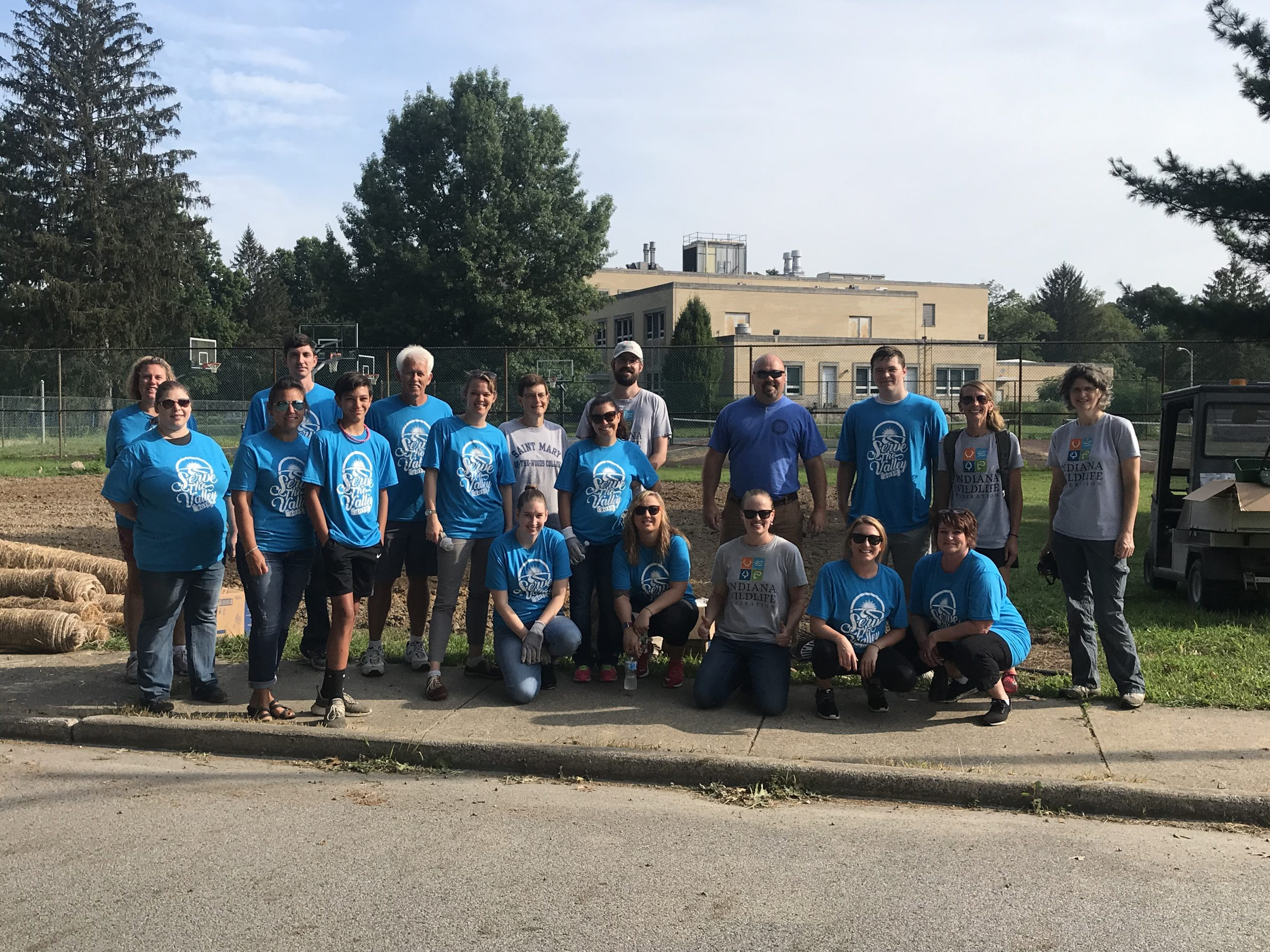 IWF, United Way, and Saint Mary-of-the-Woods volunteers
